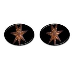 Star Light Decoration Atmosphere Cufflinks (Oval)