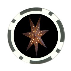 Star Light Decoration Atmosphere Poker Chip Card Guard