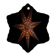 Star Light Decoration Atmosphere Snowflake Ornament (Two Sides)