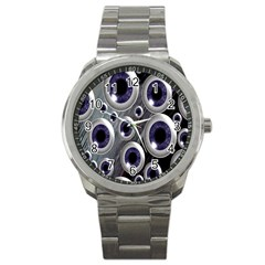 Eyeballs Pattern Sport Metal Watch