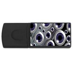 Eyeballs Pattern USB Flash Drive Rectangular (4 GB)