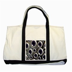 Eyeballs Pattern Two Tone Tote Bag