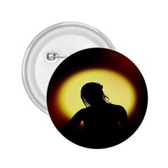 Silhouette Woman Meditation 2.25  Buttons