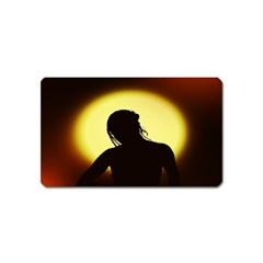 Silhouette Woman Meditation Magnet (Name Card)