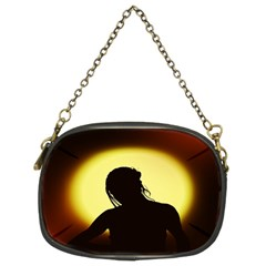 Silhouette Woman Meditation Chain Purses (Two Sides)
