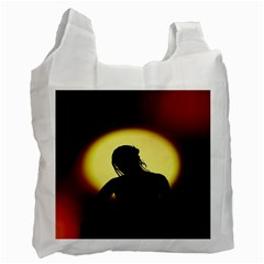 Silhouette Woman Meditation Recycle Bag (Two Side)