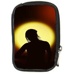Silhouette Woman Meditation Compact Camera Cases