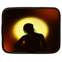 Silhouette Woman Meditation Netbook Case (XL)
