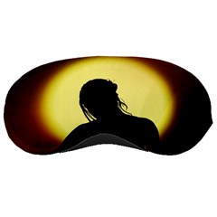 Silhouette Woman Meditation Sleeping Masks