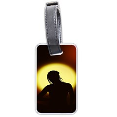 Silhouette Woman Meditation Luggage Tags (two Sides)