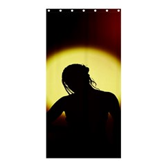 Silhouette Woman Meditation Shower Curtain 36  X 72  (stall)