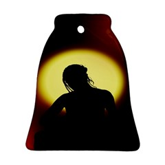 Silhouette Woman Meditation Bell Ornament (Two Sides)