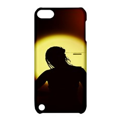 Silhouette Woman Meditation Apple iPod Touch 5 Hardshell Case with Stand