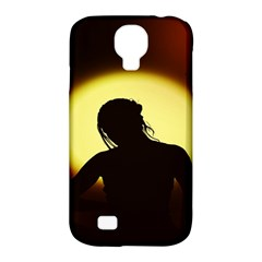 Silhouette Woman Meditation Samsung Galaxy S4 Classic Hardshell Case (PC+Silicone)