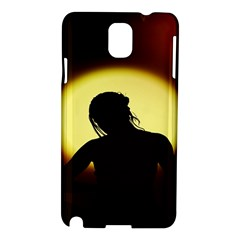 Silhouette Woman Meditation Samsung Galaxy Note 3 N9005 Hardshell Case