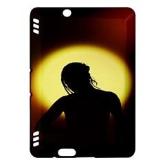 Silhouette Woman Meditation Kindle Fire HDX Hardshell Case