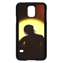 Silhouette Woman Meditation Samsung Galaxy S5 Case (black)