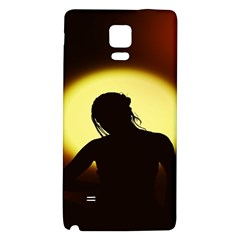 Silhouette Woman Meditation Galaxy Note 4 Back Case