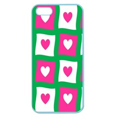 Pink Hearts Valentine Love Checks Apple Seamless iPhone 5 Case (Color)