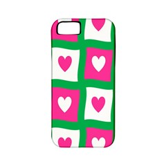 Pink Hearts Valentine Love Checks Apple iPhone 5 Classic Hardshell Case (PC+Silicone)