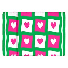 Pink Hearts Valentine Love Checks Samsung Galaxy Tab 8 9  P7300 Flip Case
