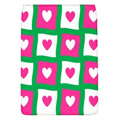 Pink Hearts Valentine Love Checks Flap Covers (L)