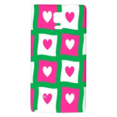 Pink Hearts Valentine Love Checks Galaxy Note 4 Back Case