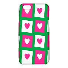 Pink Hearts Valentine Love Checks iPhone 6/6S TPU Case