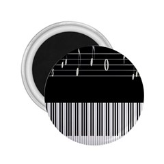 Piano Keyboard With Notes Vector 2.25  Magnets