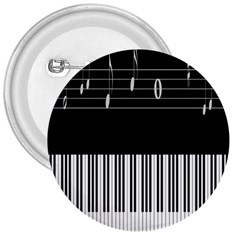 Piano Keyboard With Notes Vector 3  Buttons