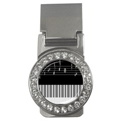 Piano Keyboard With Notes Vector Money Clips (CZ)