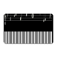 Piano Keyboard With Notes Vector Magnet (Rectangular)