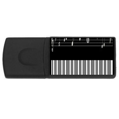 Piano Keyboard With Notes Vector USB Flash Drive Rectangular (1 GB)