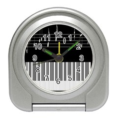 Piano Keyboard With Notes Vector Travel Alarm Clocks