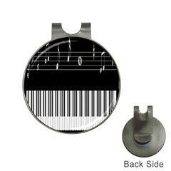 Piano Keyboard With Notes Vector Hat Clips with Golf Markers