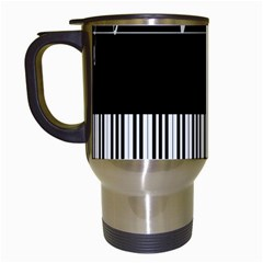 Piano Keyboard With Notes Vector Travel Mugs (White)