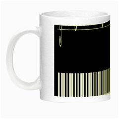 Piano Keyboard With Notes Vector Night Luminous Mugs