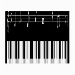 Piano Keyboard With Notes Vector Small Glasses Cloth (2-Side)