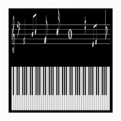 Piano Keyboard With Notes Vector Medium Glasses Cloth