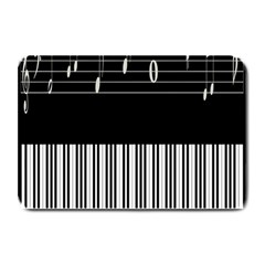 Piano Keyboard With Notes Vector Plate Mats
