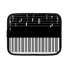 Piano Keyboard With Notes Vector Netbook Case (small)