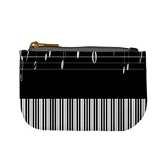 Piano Keyboard With Notes Vector Mini Coin Purses