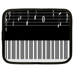 Piano Keyboard With Notes Vector Netbook Case (xxl)