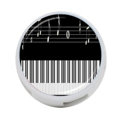 Piano Keyboard With Notes Vector 4-Port USB Hub (Two Sides)