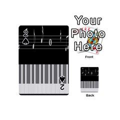Piano Keyboard With Notes Vector Playing Cards 54 (Mini)