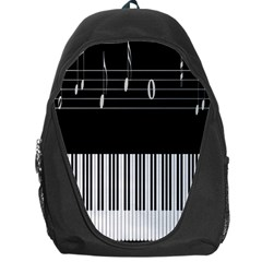 Piano Keyboard With Notes Vector Backpack Bag