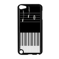 Piano Keyboard With Notes Vector Apple iPod Touch 5 Case (Black)