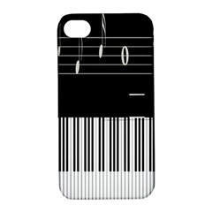 Piano Keyboard With Notes Vector Apple Iphone 4/4s Hardshell Case With Stand