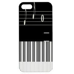 Piano Keyboard With Notes Vector Apple Iphone 5 Hardshell Case With Stand