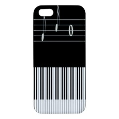 Piano Keyboard With Notes Vector Apple Iphone 5 Premium Hardshell Case